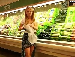 Gf Fucks Cucumber in Public Supermarket