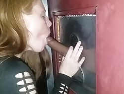 Teen tests out a gloryhole
