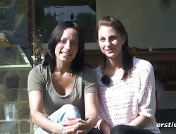 Mia and Sara Outdoor Lesbian Fun - ersties