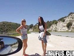 Mofos - Stranded Teenagers - Ally and Angie - Finger-banged Squi