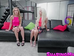 Appetizing young stepsisters Elsa Jean and Kali Roses in trio